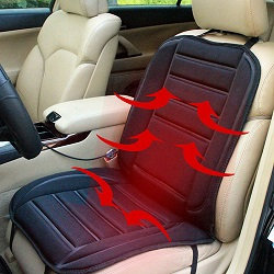 12V Car Van Heated Heating Front Seat Cushion Cover Pad Heater Warmer Winter UK