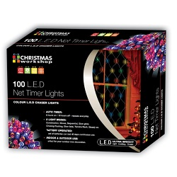 100 LED Garden Net Lights - Perfect for fences