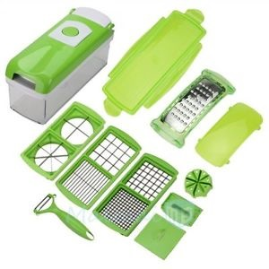12 PC Multi-function Slicer Vegetable Fruit Peeler Dicer Cutter Chopper Grater